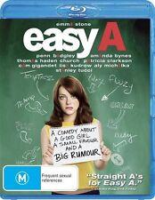 *New & Sealed*  Easy A (Blu-ray, 2011) Emma Stone movie. Region B Australian