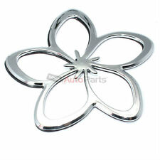 3D Chrome Plumeria Hawaiian Lei Flower Emblem-Decal Sticker for Car-Truck-Bike