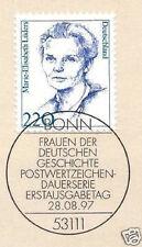 BRD 1997: Marie-Elisabeth Lüders Nr. 1940 mit Bonner Ersttagsstempel! 1A! 1610