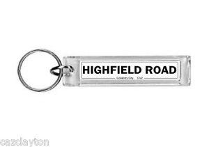 Coventry City Highfield Road Street Sign / Keyring / Football Fc