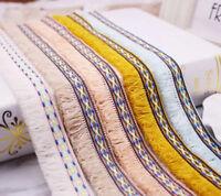 Boho Ethnic Loop Brush Fringe Tassel Trim Ribbon Upholstery Fabric Sewing Craft