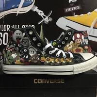 Converse All Star Custom Super Mario Bros Shoes Scarpe Uomo Donna Unisex shoe