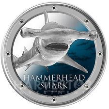 2013 SILVER HAMMERHEAD SHARK – BEAUTIFULLY COLORIZED – AMAZING LIQUID PACKAGING