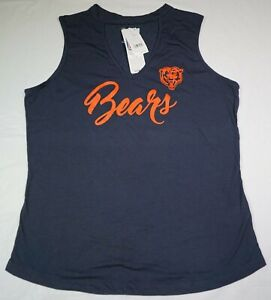 NWT Chicago Bears Women's NFL Team Apparel Shirt with Chest Hole