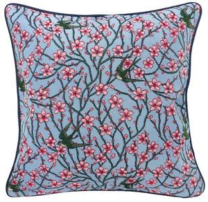 "SIGNARE ""Blossom""  Kissenhülle - Cushion Cover 45x45cm Blau Rosa Bunt L&R"