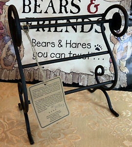 "Vintage Boyds Bears Miniature Wrought Iron ""Quignapples Quilt Rack"""