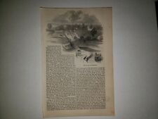 Rockaway New Jersey Plane 1863 Hw Sketch Print Rare!