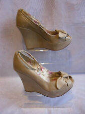 ALDO 100% Leather Wedge Very High (greater than 4.5\) Women's Heels""