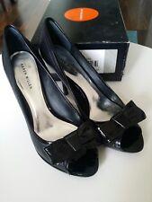Karen Millen Leather High Heel peep toe Shoes, Size 40