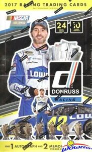 2017 Panini Donruss Nascar Racing MASSIVE Factory Sealed HOBBY Box-3 AUTO/MEM
