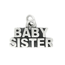 Sterling Silver Baby Sister Charm Pendant
