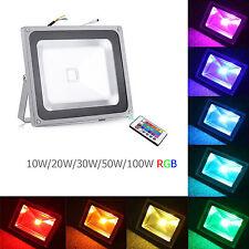 Remote Control RGB LED 16 Colour 10/20/30/50/100W Changing Flood Light Spotlight