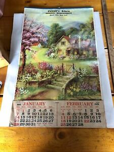 Vintage Covell's Store Calendar Black Lake Ny 1951