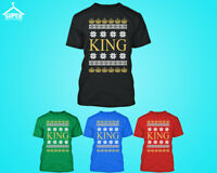 CHRISTMAS KING Design TSHIRT King Santa Claus Ugly Xmas Sweater Tee Shirt