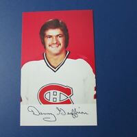 DANNY GEOFFRION  1979-80 Montreal Canadiens team issue color postcard Mint