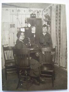 Nielsville MN Telephone Operator Old 1914 RPPC Postcard; Hovland, Stuhaug ?