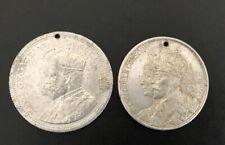 George V- 2 x 1911 Coronation commemorative medallions
