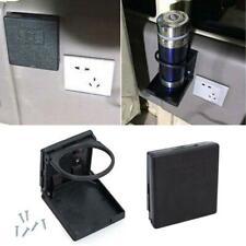 2x Black Folding Case Wall Cup Holder Box Universal Car Boat Caravan Accessories