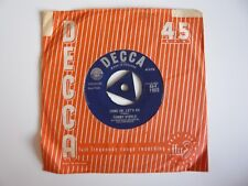"Tommy Steele Come On, Let's Go Orig UK 1958 Decca Tri-Centre 7"" Vinyl Single VG"