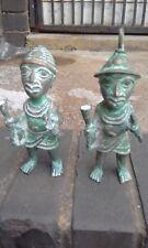 African Figurines / Statues / Bronze / Benin Warriors