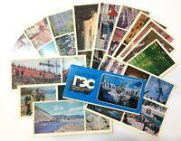 Set Postcards Lot 15 pcs Construction giants USSR Zeya hydroelectric station 70s