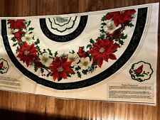 Christmas Deck the Halls MANTEL / TREE SKIRT large quilters cotton Fabric Panel