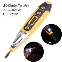 Digital Ac/Dc Voltage Tester Pencil Lcd Display Test Pen 12-250V Home Tool ME