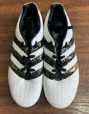Adidas Kids Soccer Cleats White/Gold/Black - Size 3 Youth