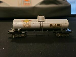 *** Vintage Lionel Post War SUNX No 6555 Single Dome Tank Car Original Box ***