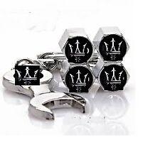 For Maserati Logo Emblem Wheel Tyre Tire Valve Air Dust Cover Screw Caps Gift