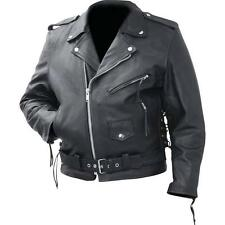 """Rocky Mountain Hides�""""� Cowhide Leather Classic Motorcycle Biker Jacket"""