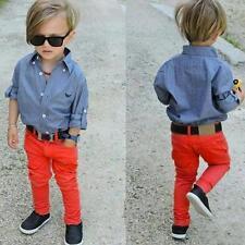 2pcs Toddler Kids Baby Boy Clothes Shirt Top + Denim Jeans Pants Outfits Set