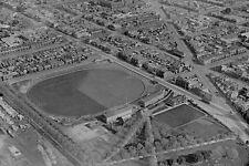 FITZROY North BRUNSWICK St Oval 1st View c1930 modern Digital Photo Postcard