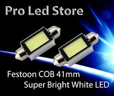 2X 41mm Festoon High Power COB LED Interior Dome Map Light Bulbs