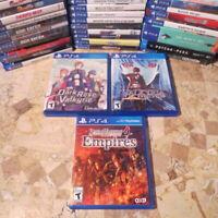 Playstation 4 PS4 LOT ✨DARK ROSE, VALKYRIA REVOLUTION, SAMURAI WARRIORS 4 EMPIRE