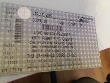 Katy Perry ticket, HMV Hammersmith Apollo, London, March 2011