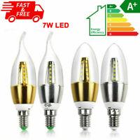 NEW 2x 4x 10x E14 E27 Flicker Flame Candle LED Light Bulbs 7w Lamp Cool Warm