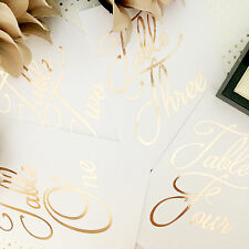 FOIL A6 WEDDING TABLE NUMBER ROSE GOLD COPPER SILVER RECEPTION FOIL QUOTE PRINT