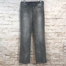 NYDJ Marilyn Straight Jeans Size 8 High Rise Stretch Gray Lift & Tuck Tech H19