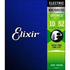Elixir 19077 OPTIWEB Coated Electric Guitar Strings - Light/Heavy - 10-52