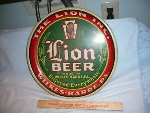 Rare   Lion Beer Tray made in wilkes-barre pa THE LION INC. seldom seen tray