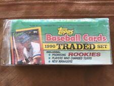 Topps Baseball Cards 1990 Traded Set Sealed