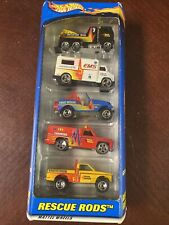 2000 HOT WHEELS RESCUE RODS 5 Emergency Vehicles GIFT PACK NRFP