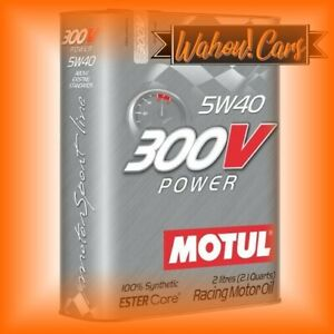 Bidon d'huile Motul 300V CHRONO 2L 5W40 Huile de Moteur Haute performance