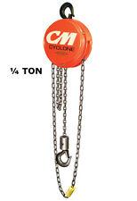 Cmco Cyclone Series 646 Manual Hand Chain Hoist - 1/4 Ton Capacity - 10 Ft Lift