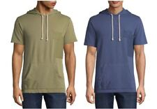 Men's Arizona Short Sleeve Terry Cloth Patchwork Hoodie