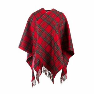 Edinburgh 100% Lambswool Scottish Tartan Mini Cape available 4 Clans