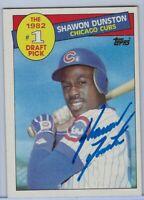 1985 Topps Shawon Dunston  Autographed NrMt Baseball Card