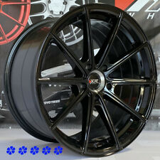 XXR 568 Wheels Black 18 +38 Staggered Rims 5x114.3 Fits Infiniti G35 G37 Q50 Q60