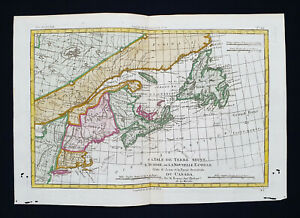 1770 BONNE: NORTH AMERICA, CANADA, NOVA SCOTIA, HALIFAX, ACADIA, NEWFOUNDLAND...